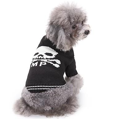 Γάτα Σκύλος Πουλόβερ Ρούχα για σκύλους Νεκροκεφαλές Άσπρο/Μαύρο Ακρυλικές Ίνες Στολές Για κατοικίδια Ανδρικά Γυναικεία Καθημερινά