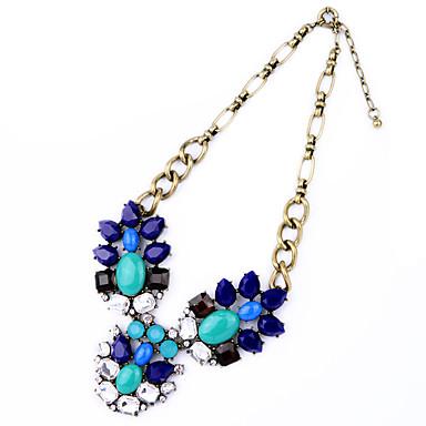 Γυναικεία Σκέλη Κολιέ Κρυστάλλινο Flower Shape Μοναδικό Σκούρο μπλε Κοσμήματα Για 1pc