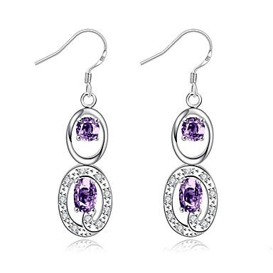 Pentru femei Fete Cercei Picătură Cristal Stil Atârnat Argilă Lacrimă Bijuterii Pentru Nuntă Petrecere Zilnic Casual