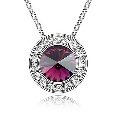 Pentru femei Coliere cu Pandativ Cristal Circle Shape Design Circular Bijuterii Pentru