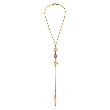 Kadın's Uçlu Kolyeler Geometric Shape Eşsiz Tasarım Moda Euramerican Altın Mücevher Için Düğün 1pc