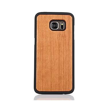 Etui Käyttötarkoitus Samsung Galaxy S7 edge S7 Kuvio Takakuori Yhtenäinen väri Kova Puinen varten S7 edge S7
