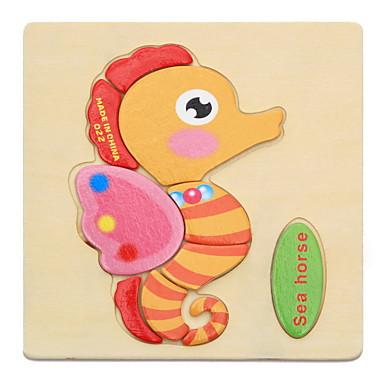 Εκπαιδευτικές κάρτες Παζλ Ξύλινα παζλ Εκπαιδευτικό παιχνίδι Παιχνίδια Ζώα Φτιάξτο Μόνος Σου Παιδικό Παιδικά 1 Κομμάτια