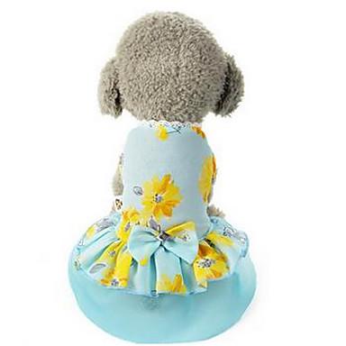 Câine Rochii Îmbrăcăminte Câini Draguț Casul/Zilnic Prințesă Albastru Deschis Costume Pentru animale de companie