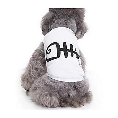 Köpek Tişört Köpek Giyimi Sevimli Günlük/Sade İngiliz Beyaz