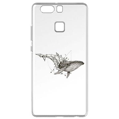 Για Με σχέδια tok Πίσω Κάλυμμα tok Ζώο Μαλακή TPU για Huawei Huawei P9 Huawei P9 Lite Huawei P8 Huawei P8 Lite