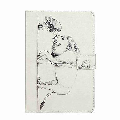 Pouzdro Uyumluluk Apple Cüzdan Kart Tutucu Satandlı Flip Temalı Tam Kaplama Karton Sert PU Deri için iPad Mini 4 iPad Mini 3/2/1