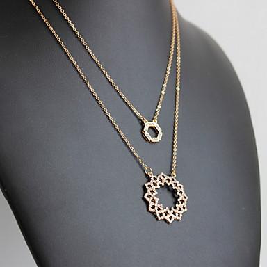 Γυναικεία Κρεμαστά Κολιέ Κοσμήματα Κοσμήματα Πετράδι Κράμα Φύση Εξατομικευόμενο Euramerican Χρυσό Κοσμήματα Για Πάρτι Καθημερινά Causal