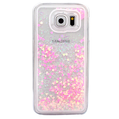 Case For Samsung Galaxy S7 edge S7 Flowing Liquid Transparent Back Cover Glitter Shine Hard PC for S7 edge S7 S6 edge plus S6 edge S6 S5