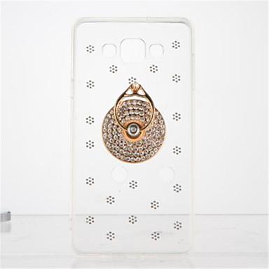 إلى حجر كريم حامل الخاتم شفاف اصنع بنفسك غطاء غطاء خلفي غطاء رخام ناعم TPU إلى Samsung A7