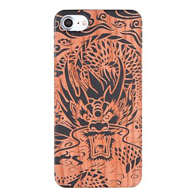 Kılıf Na iPhone 7 Plus iPhone 7 Apple Wzór Wytłaczany wzór Czarne etui Zwierzę Twarde Drewniany na iPhone 7 Plus iPhone 7
