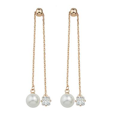Damla Küpeler alaşım Altın Gümüş Mücevher Için Günlük 1 çift