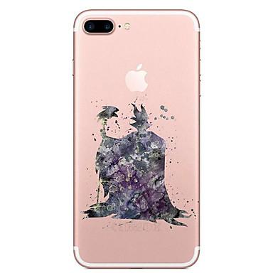 Etui Käyttötarkoitus Apple iPhone 7 Plus iPhone 7 Läpinäkyvä Kuvio Takakuori Piirretty Pehmeä TPU varten iPhone 7 Plus iPhone 7 iPhone 6s
