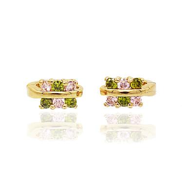 Pentru femei Diamant sintetic Cercei - Zirconiu, Placat Cu Aur Roz Floare Personalizat, Floral, Design Circular Roz auriu Pentru Nuntă /