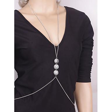 Kadın Vücut Mücevheri Vücut Zinciri / Belly Chain Moda Eski Tip Bohemia Stili alaşım Mücevher Uyumluluk Özel Anlar Günlük