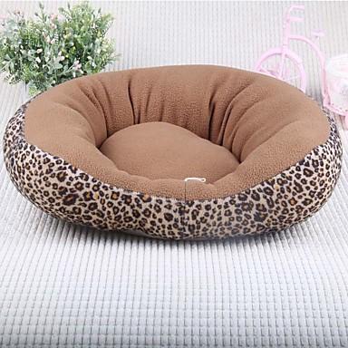 Pisici Câine Paturi Animale de Companie  Rogojini & Pernuțe Leopard Απαλό Negru Maro