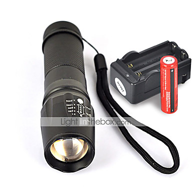 UltraFire W-878 LED Fenerler LED 1800 lm 5 Kip LED Piller ve Şarj Aleti ile Kaymaz Tutacak Kamp/Yürüyüş/Mağaracılık Günlük Kullanım