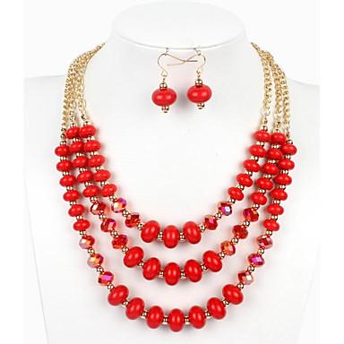 Damskie Biżuteria Ustaw - euroamerykańskiej Zawierać Czerwony / Green / Niebieski Na Ślub / Impreza / Specjalne okazje