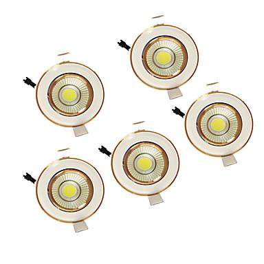 500 lm LED'ler Gömme LED Gömme Işıklar Sıcak Beyaz / Doğal Beyaz Ev / Ofis / Oturma Odası / Yemek Odası / Hol / Koridor / 5 parça