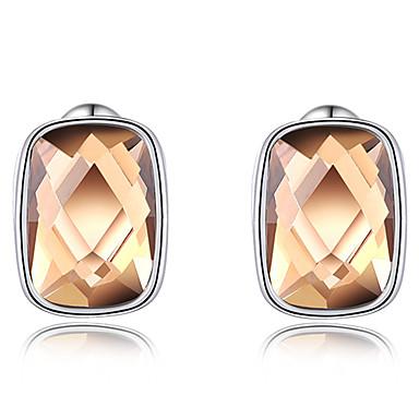 Damskie Kolczyki na sztyft Kryształ Spersonalizowane Luksusowy euroamerykańskiej Modny Kryształ Miedź Pozłacane Circle Shape Biżuteria As