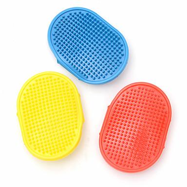 Köpek Fırçalar Fırçalar Su Geçirmez Sarı Kırmzı Mavi