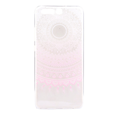 Varten Läpinäkyvä Kuvio Etui Takakuori Etui Kukka Pehmeä TPU varten Huawei Huawei P10