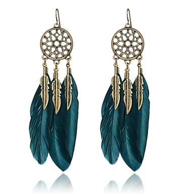 للمرأة أقراط قطرة مجوهرات قديم سبيكة أجنحة مجوهرات أسود أزرق داكن حزب يوميا فضفاض مجوهرات