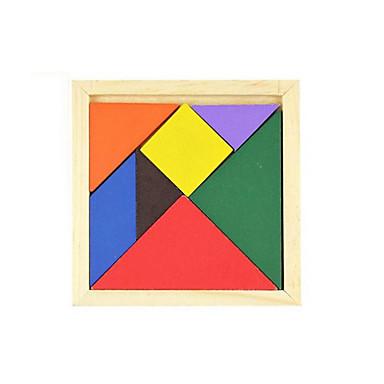 Tangram Puzzle Drewniane puzzle Zabawka edukacyjna Kwadrat DIY Klasyczny Prezent
