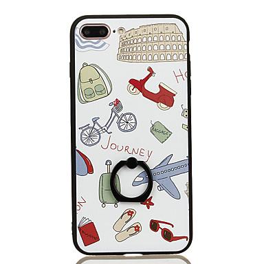 Varten Sormuksen pidike Kuvio Etui Takakuori Etui Kaupunkinäkymä Kova PC varten Apple iPhone 7 Plus iPhone 7