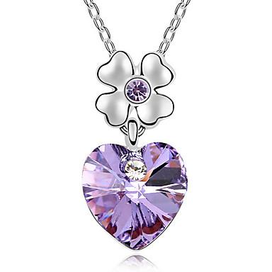 للمرأة قلائد الحلي كريستال Heart Shape كروم قلب مجوهرات من أجل الذكرى السنوية تهاني هدية