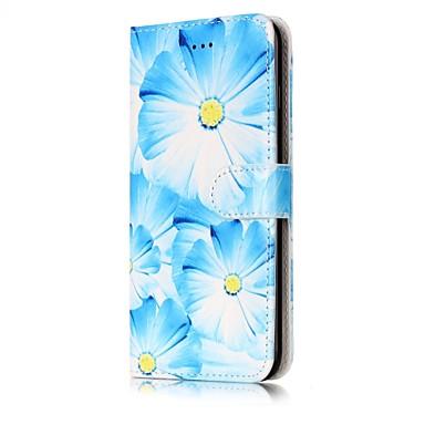 Na Etui na karty Portfel Z podpórką Flip Wzór Magnetyczne Kılıf Futerał Kılıf Kwiat Twarde Skóra PU na AppleiPhone 7 Plus iPhone 7 iPhone