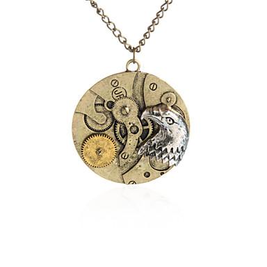 للمرأة للرجال قلائد الحلي مجوهرات Circle Shape سبيكة تصميم دائري تصميم فريد ستايل الشعار هندسي عتيقة ملهم euramerican في مجوهرات من أجل