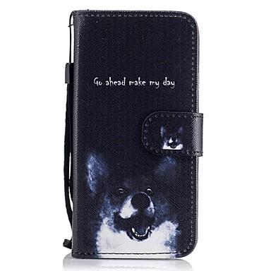 Kılıf Na Samsung Galaxy A5(2017) A3(2017) Etui na karty Portfel Z podpórką Flip Wzór Pełne etui Pies Twarde Skóra PU na A3 (2017) A5