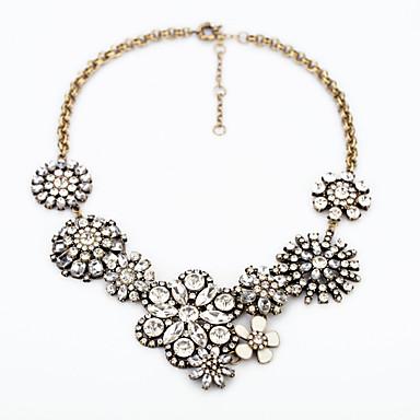 Pentru femei Coliere cu Pandativ Cristal Flower Shape Design Unic bijuterii de lux Personalizat Alb Curcubeu Bijuterii Pentru 1 buc
