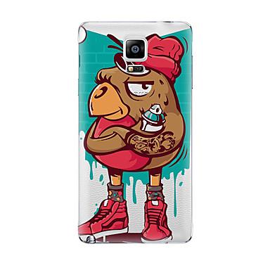 Etui Käyttötarkoitus Samsung Galaxy Läpinäkyvä Kuvio Takakuori Piirretty Pehmeä TPU varten Note 5 Note 4 Note 3 Note 2