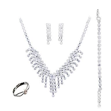 Damskie Biżuteria Ustaw - Modny, euroamerykańskiej Zawierać White Na Ślub / Impreza / Codzienny / Pierścionki