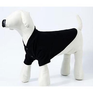 كلب T-skjorte ملابس الكلاب متنفس جميل كاجوال/يومي صلب أسود رمادي أحمر كوستيوم للحيوانات الأليفة