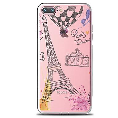 Etui Käyttötarkoitus Apple iPhone 7 Plus iPhone 7 Läpinäkyvä Kuvio Takakuori Sana / lause Eiffel-torni Pehmeä TPU varten iPhone 7 Plus