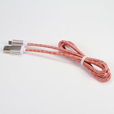 USB 2.0 Micro USB 2.0 Portabil Cablu Pentru Samsung Huawei Sony Nokia HTC Motorola LG Lenovo Xiaomi 100 cm Piele PU Metal