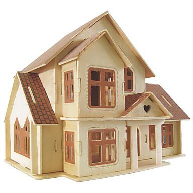 Zestaw DIY Klocki Zabawki 3D Zabawka edukacyjna Puzzle Drewniane puzzle Zabawki Kwadrat Znane budynki Chińska architektura Dom Męskie