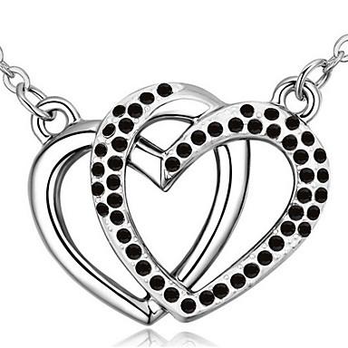 Naisten Riipus-kaulakorut Kristalli Heart Shape Uniikki Personoitu Korut Käyttötarkoitus Häät