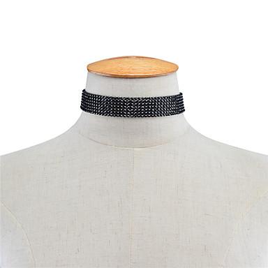 billige Mode Halskæde-Dame Enlig Snor Kort halskæde Personaliseret Akryl Mode Euro-Amerikansk Sort Halskæder Smykker Til Fest Speciel Lejlighed Daglig Afslappet