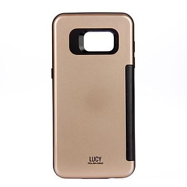 من أجل أغط / كفرات حامل البطاقات ضد الصدمات غطاء خلفي غطاء لون الصلبة قاسي PC إلى Samsung S7 edge S7