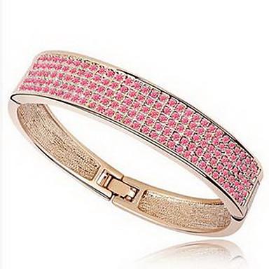 Damskie Bransoletki bangle Biżuteria Przyjaźń Modny Kryształ Stop Geometric Shape White Purple Rainbow Różowy Light Blue Biżuteria Na