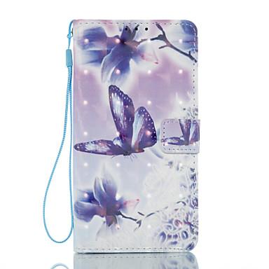 Etui Käyttötarkoitus Samsung Galaxy J5 (2016) J3 (2016) Korttikotelo Lomapkko Tuella Flip Kuvio Magneetti Kokonaan peittävä Perhonen Kova