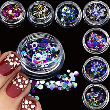 12bottles/set Biżuteria do paznokci Glitter i Poudre Inne dekoracje Błyskotki Modny Słodkie Połyskujące Ślub Wysoka jakość Codzienny