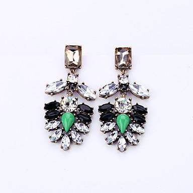 Κουμπωτά Σκουλαρίκια Κρυστάλλινο Μοναδικό Μοντέρνα Εξατομικευόμενο Euramerican Πράσινο Κοσμήματα Για Γάμου Πάρτι Γενέθλια 1 ζευγάρι