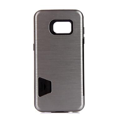 من أجل أغط / كفرات حامل البطاقات ضد الصدمات غطاء خلفي غطاء لون الصلبة قاسي معدن إلى Samsung S7 edge S7 S6
