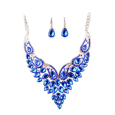 Damskie Zestawy biżuterii Rhinestone Luksusowy Modny euroamerykańskiej Wyrazista biżuteria Ślubny Ślub Impreza Codzienny Casual Imitacja