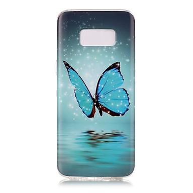 Pouzdro Uyumluluk Samsung Galaxy S8 Plus S8 Karanlıkta Parlayan IMD Temalı Arka Kılıf Kelebek Yumuşak TPU için S8 S8 Plus S7 edge S7 S6